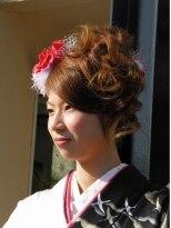 盛り髪(盛りヘア)の成人式スタイル画像