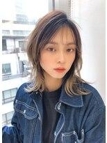 ユーフォリアギンザ(Euphoria GINZA)シースルー前髪/大人かわいいくびれミディアムネオウルフ 担当畑
