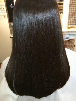 ヘアーアンドフェイス あかしや美容室(HAIR&FACE)の写真/【キラ髪縮毛矯正&トリートメント!】ただクセを伸ばすだけでなく柔らかく、ナチュラルなストレートに◎