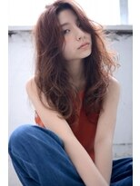 pink deep brown×heavy layer long#002
