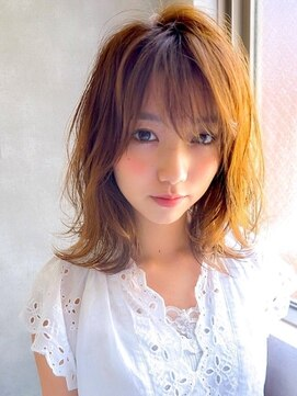 アグ ヘアー ライム 姶良店(Agu hair lime)《Agu hair》軽さが決め手くびれミディ