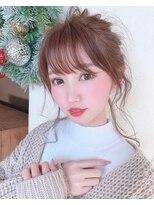 ゆる団子ヘア(ネイビーカラー美髮フレンチボブ