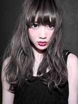 『 カット+ハーフブリーチ+ホワイトブラウン 』厚めバングSBB3