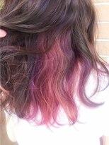 インナーカラー☆ピンク×ベリー×ラベンダー