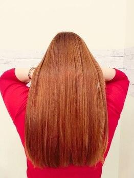 ヘアーワークスミスト 池袋店(Hair Works MIST)の写真/【縮毛矯正+G MILBON Tr】プラスαグレードアップTrも有◎大人女子も満足の自然な潤いヘアに![池袋]