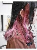 アルゴンキントウキョウ(THE ALGONQUIN TOKYO)インナーブリーチのムラ染めカラー**