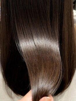 """マーシィ(MARCIE)の写真/≪圧倒的なツヤ美髪≫""""最高級のサブリミックトリートメント""""で髪質改善を♪生まれ変わったような質感―。"""