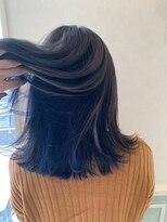 ヘアーサロン リアン 熊谷2号店(hair salon Rien)グレージュ×ブルー