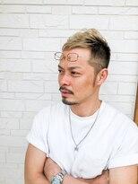 ヘアーグルーミング アイム(Hair &Grooming aim)【メンズカット】ハイトーンアッシュ&フェードカット