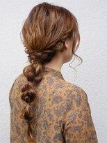 七ッ星+四つ編みヘアアレンジ