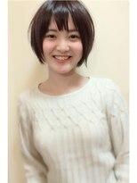 【morio池袋】Vバング黒髪ショートボブ