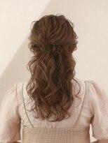 オーブ ヘアー ブルーム 西新店(AUBE HAIR bloom)【AUBE HAIR】サイド編み込みハーフアップ