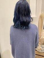 ヘアーアイスカルテット(HAIR ICI QUARTET)ブルーブラック ネイビー 青髪