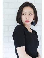 【東 純平】大人女性の前髪なしワンレンボブ
