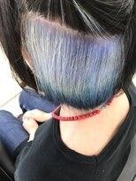 マーメイドヘアー(mermaid hair)インナーカラー☆シルバーブルー→ネイビー★グラデーション