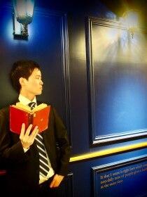 ビーユナイテッドギンザ(B-united Ginza)夕暮れの街角、待ち合わせはあのカフェの斜向かい<理容室>