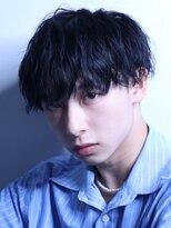 コンフィデンス メンズヘアー(confidence MEN'S HAIR)【ブルーブラック×スパイラルパーマ】