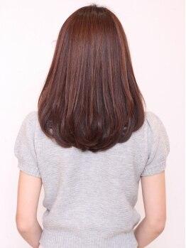 レアール アンビエ(LeR Unevie)の写真/スタイリングしやすいサラツヤのストレートヘアを♪髪質・クセに合わせた施術でどうぞ!!