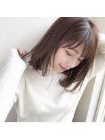 【GARDEN伊藤愛子】小顔ミディアムショコラブラウン