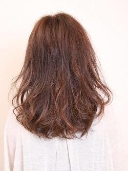 レガーレ ヘア デザイン(Regare Hair Design)の写真/しっとりツヤ髪にしたいならオーガニックカラー!ファッションカラーやグレイカラーも納得の仕上がりに。