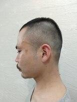 ポンヘアー(PON hair)スキンフェードスタイル