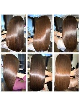 アールサロンプラスキャスパ 自由が丘(Rrsalon+CASPA)Rr original blendプラチナミネコラで極艶の髪質に!