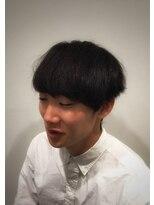 トコヤ ニュースタンダード オブ メンズヘアサロン(tokoya)ミディアムショートレイヤースタイルのビフォー