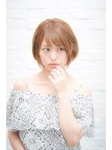 セシルヘアー 沖縄小録2号店(Cecil hair)ニュアンスエアリーショート_ブルージュヴェールウェーブ