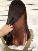 ビーヘアサロン(Beee hair salon)【渋谷エクステ・カラーBeee/安部 郁美】インナーカラーオレンジ