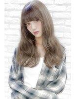 アンジェリカ ハラジュク(Angelica harajuku)【Angelica 白石研太】 グレージュカラーシースルーバングロング