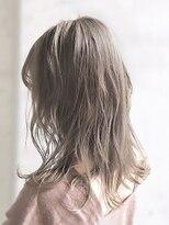 オーブ ヘアー ニコラ 大橋店(AUBE HAIR nicola)【AUBE HAIR】フォギーミルクベージュ_フリンジソフトウェーブ
