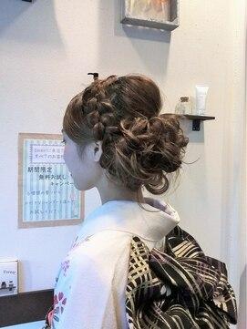 ヘアーフォレスト(hair forest)編み込みアップ
