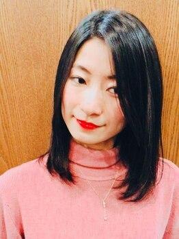 MOZ美容室 レヴェ 日永店(reeve)の写真/「いかにもストレート!」が苦手な方にもお勧めです!自然でまとまりのあるストレートヘアを提案☆