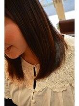 ピーエス ヘアーデザイン(PS. Hair Design)ロング縮毛矯正 ナチュラル仕上げ ビフォア画像あり
