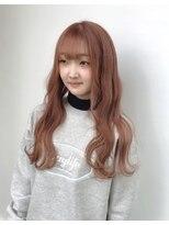 ドォート(Dote hair make)【林's】透明感シルクオレンジカラー セミウェットウェーブ