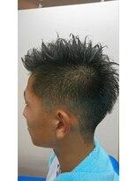 ヘアーカットデザインサロン スマッシュ 田町店(Hair cut design salon Smash)アシンメトリーソフトモヒカン