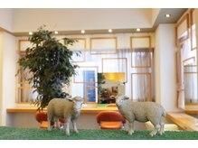 シープヘアーファーム(sheep hair farm)の雰囲気(路面店なので窓を開放して換気十分☆もちろんコロナ対策実施中♪)