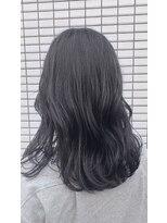 ヘアメイク シュシュ(Hair make chou chou)【林 有里子】暗髪 ネイビーカラー