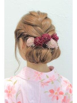 ダウンスタイル ヘアアレンジ(結婚式髪型) エレガントで可愛い☆編み込みダウンアレンジ♪