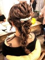 ヘアセットサロン アトリエ チャイ(Hair set salon atelier CHAI)ふわもこ編みおろし♪ちゅるんとリボン