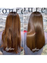 高濃度水素 ストレート 髪質改善 酸熱トリートメント