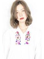 ヘアサロンガリカアオヤマ(hair salon Gallica aoyama)☆ プラチナベージュ × 外国人クセ毛風 ☆ 無造作 BOB ☆