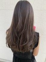 ブームワサダ(BOOM WASADA)【大分】巻き髪グレージュヘア レイヤーロング