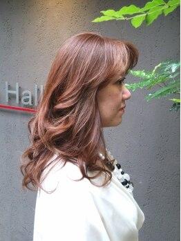 サロン ド ハルル(Salon de Hall)の写真/カラー後はまるで自分の髪ではない程の艶髪へ★根元から毛先まで輝く艶が叶う♪