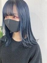 ネイビーカラー ブルーカラー ブルーブラック 韓国 髪質改善