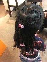キッズハート編み込みヘア