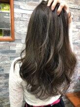 カリーナ ヘア デザイン(Carina hair design)《Carina》糸チップハイライト&ダークグレージュ