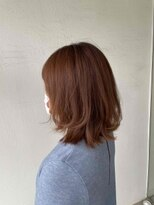 サラ ビューティー サイト 古賀店(SARA Beauty Sight)オレンジブラウン×レイヤースタイル