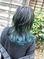 コレット ヘアー 大通(Colette hair)ブルー☆グリーン
