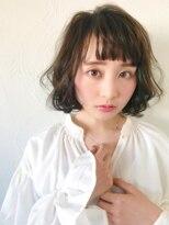 【soy-kufu】エアリーなパーマ風ボブスタイル